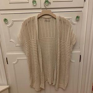 Old Navy Pff White Cardigan Sweater